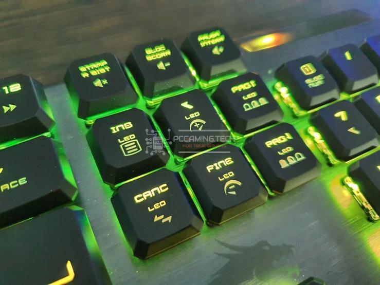 MSI Vigor GK50 Low Profile illuminazione RGB verde