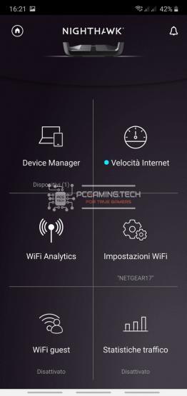 dettaglio menu principale app
