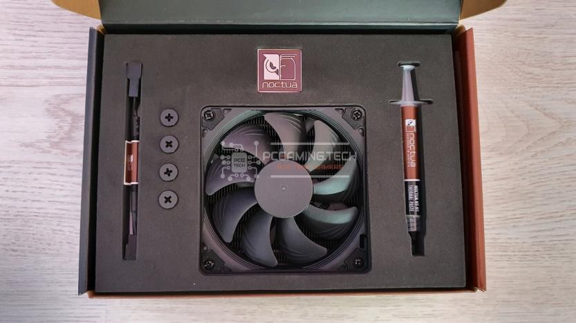 Noctua NH-L9a-AM4 chromax black alloggiamento confezione dissipatore e accessori