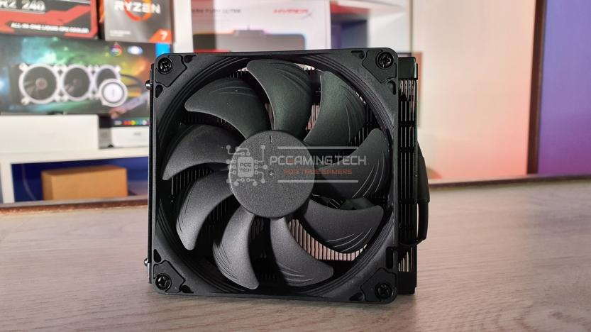 Noctua NH-L9a-AM4 chromax black ventola superiore