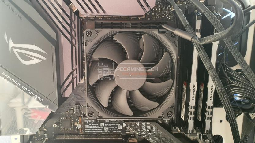 Noctua NH-L9a-AM4 chromax black installazione nh-l9a-am4 installato