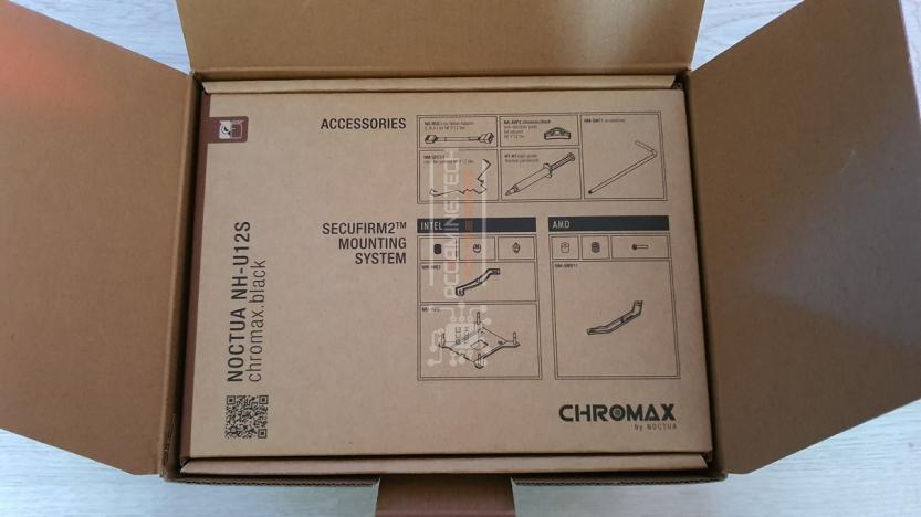 Noctua NH-U12S chromax.black box open accessory