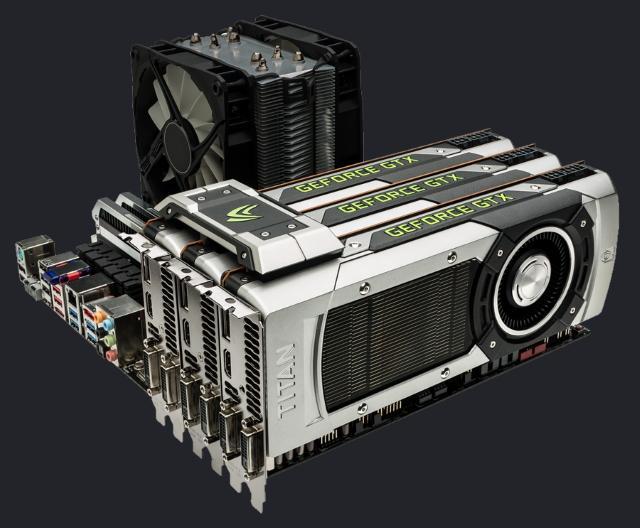 Immagine sistema con schede video in SLI