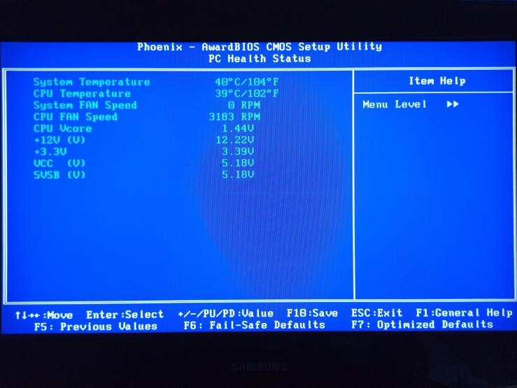 old bios monitor
