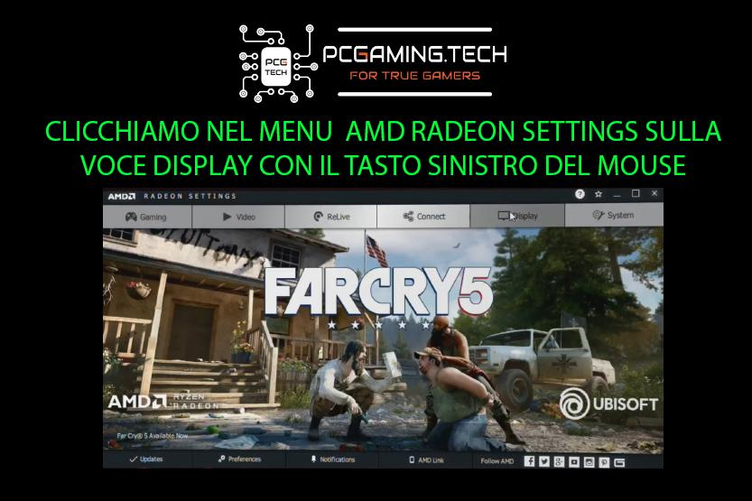 AMD Radeon menu display settings