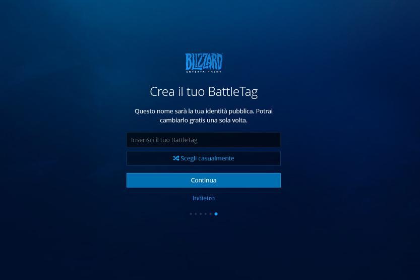 registrazione blizzard creazione battletag