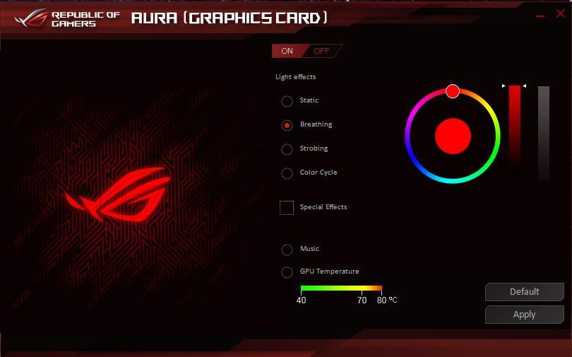 ROG STRIX RX5600XT O6G GAMING ASUS Aura Sync RGB