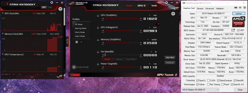 ASUS ROG STRIX RX 5600 XT O6C Gaming gpu ttweak ii 1820mhz