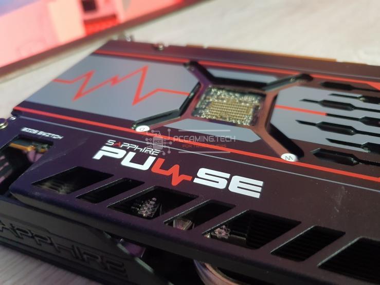 Sapphire Pulse RX 5600 XT Pluse logo sul retro