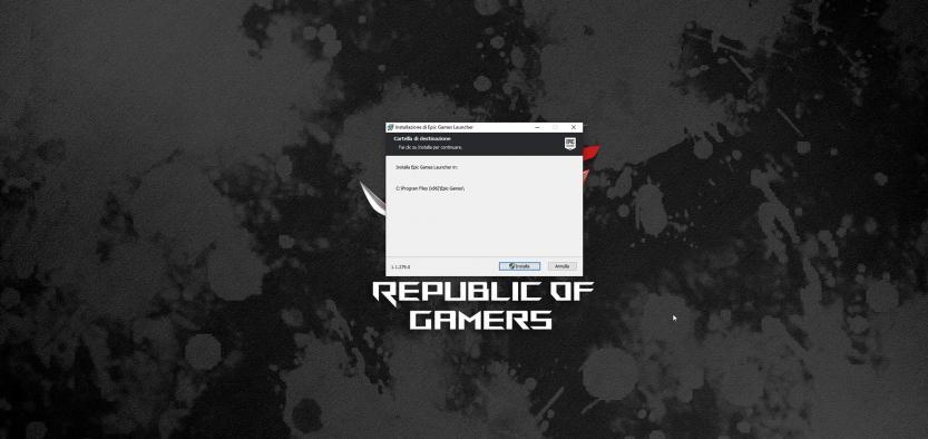 software installazione epic games