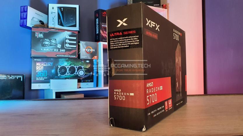 XFX RX 5700 DD ULTRA lato destro confezione