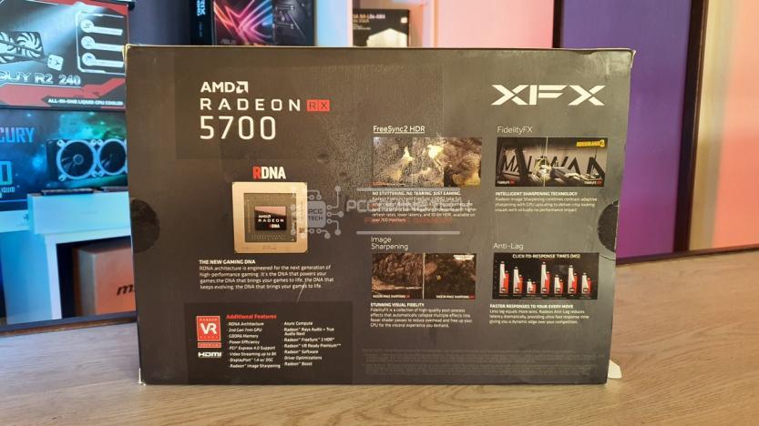 XFX RX 5700 DD ULTRA confezione posteriore