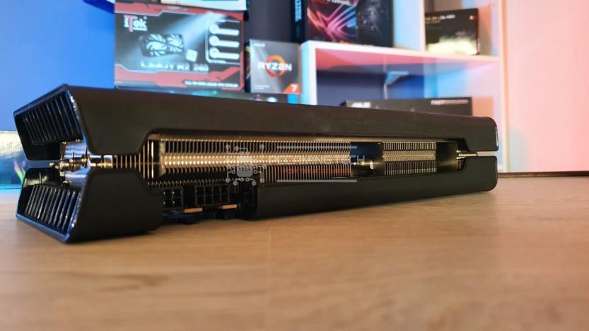 XFX RX 5700 DD ULTRA dettaglio dissipatore superiore